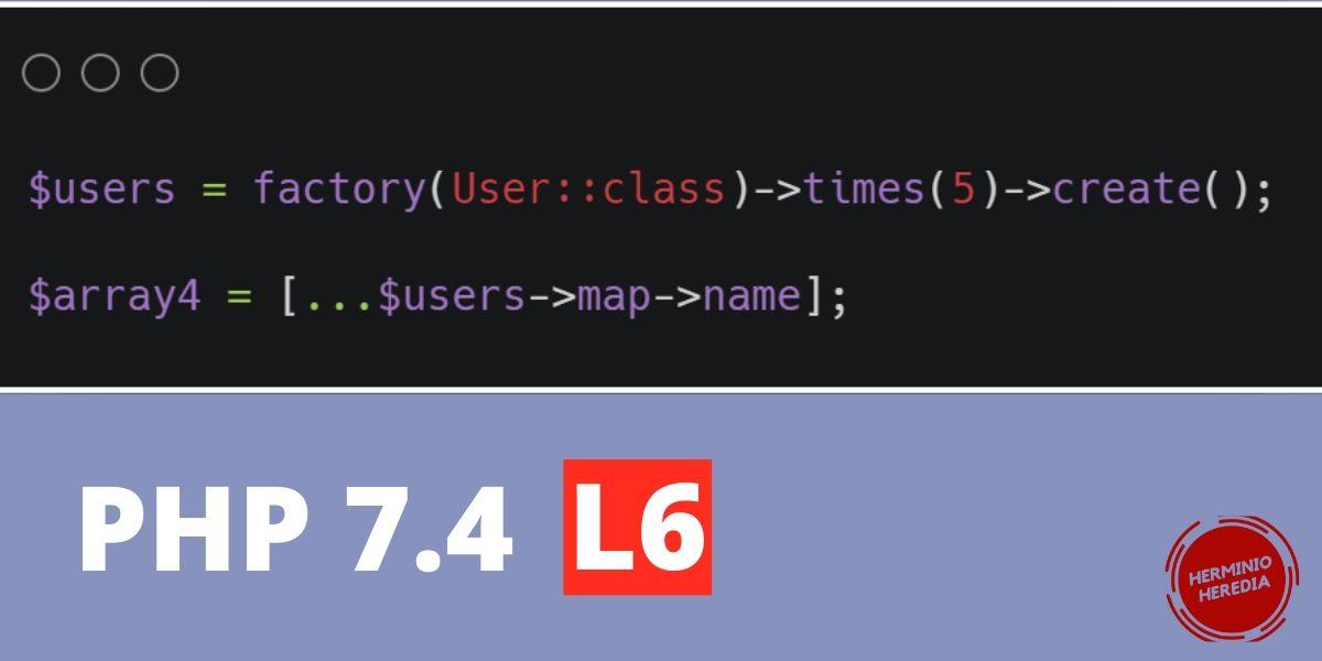 php 7.4 expansión de arreglos